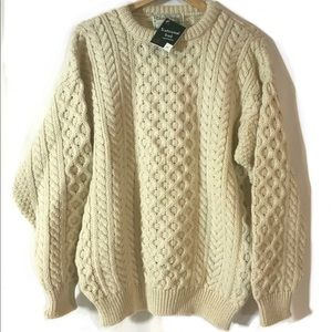 It's Traditional Tis Irish Wool Fishermans Sweater